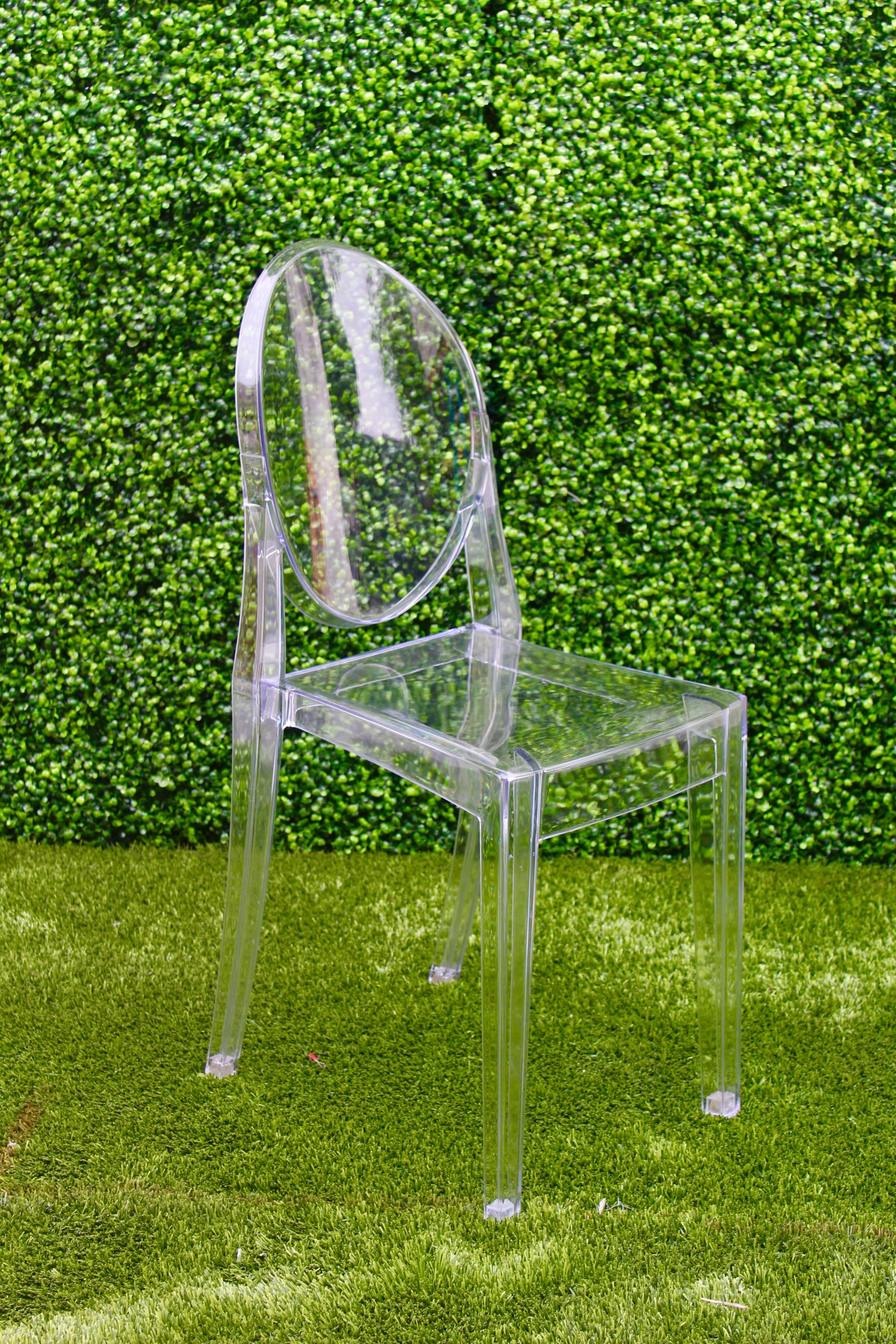 Ghost Chair Armless Clear