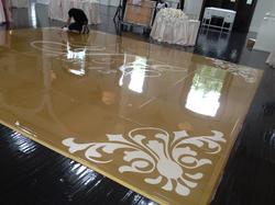 Gold Seamless Dance Floor w/ Decal