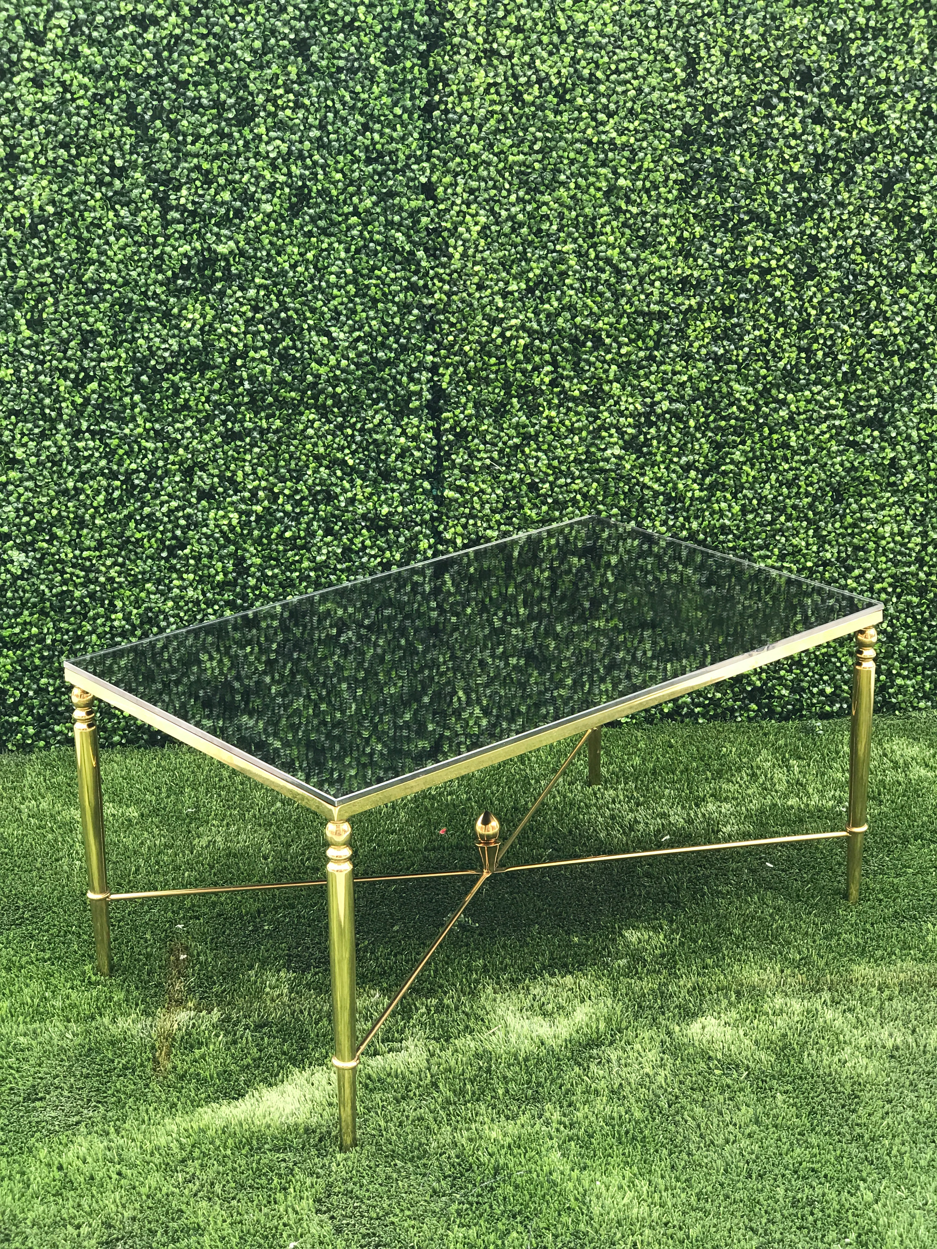 Gold Mirror Top Coffee Table
