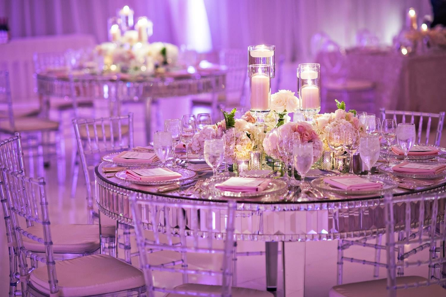 Mirrored Round Table