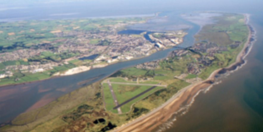Walney Island from the air