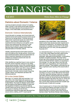 Newsletter - Domestic Violence - Anger Management - Social Activism