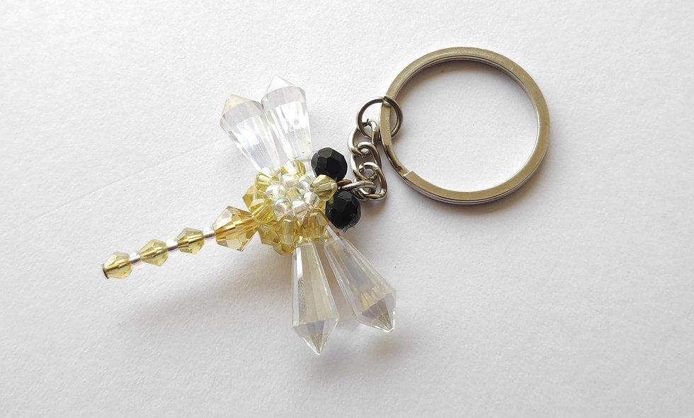 Handmade Yellow Dragonfly Keychains