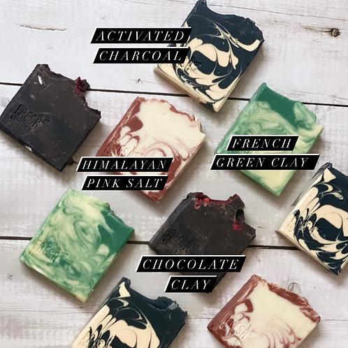 Assorted Clay Soaps (Set of 4) Buy 3 get 1 FREE