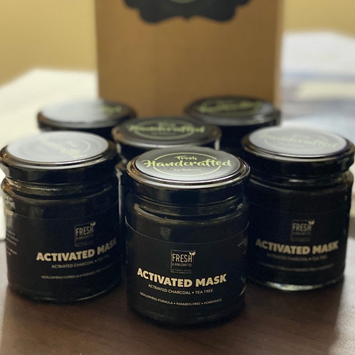 Activated Charcoal Ultra Cooling Face & Body Clay Pack