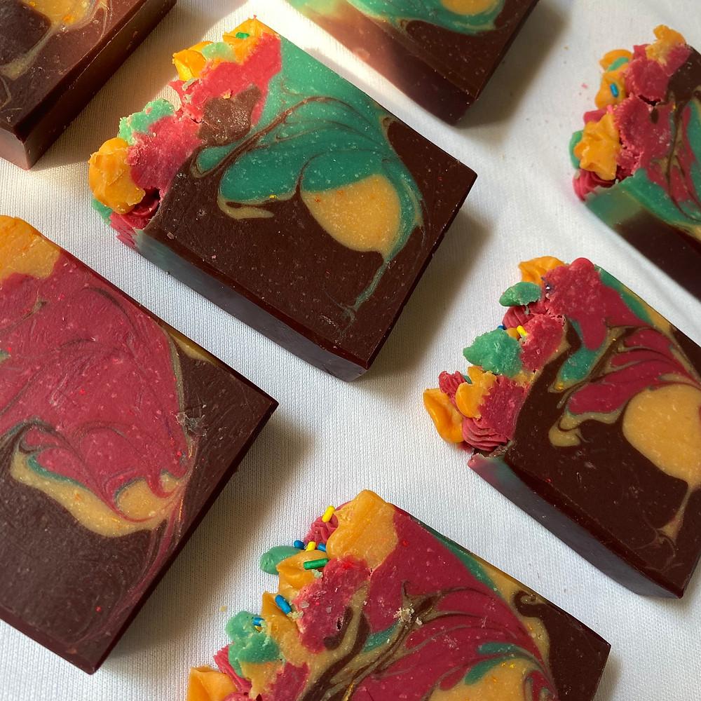 Christmas Chocolate Clay Handmade Soap