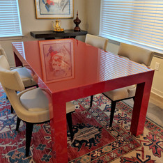 High Gloss Red Dining Table