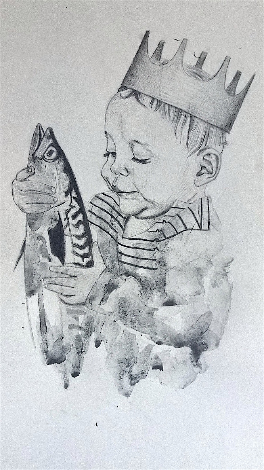 King kid and fish. 2018
