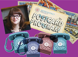 Postcarding for Debra! Dialing too!