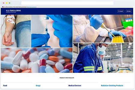 Screenshot of FDA page