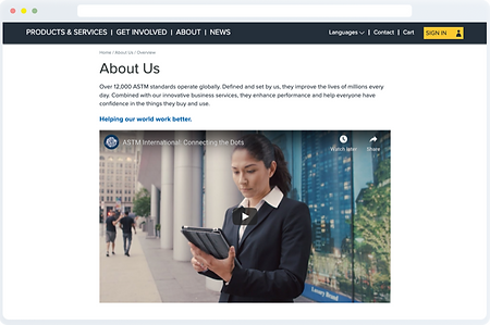 screenshot of ASTM page