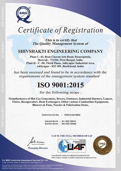 Shisakti Engineering Company - ISO Regitration