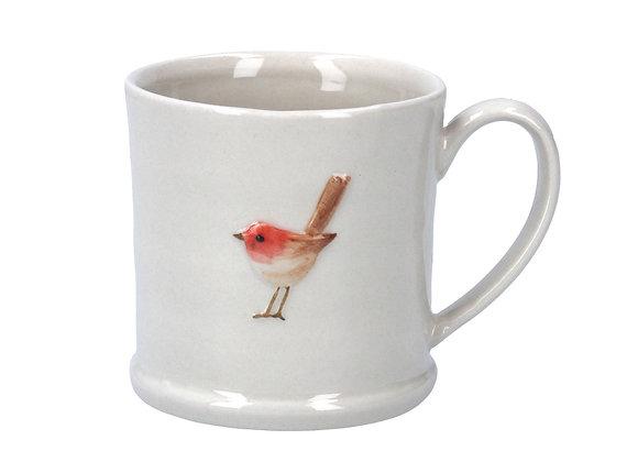 Pottery Robin Mug