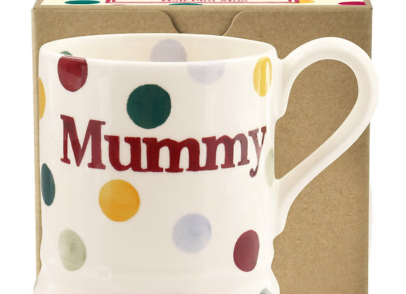 Polka Dot 'Mummy' 1/2 Pint Mug Boxed