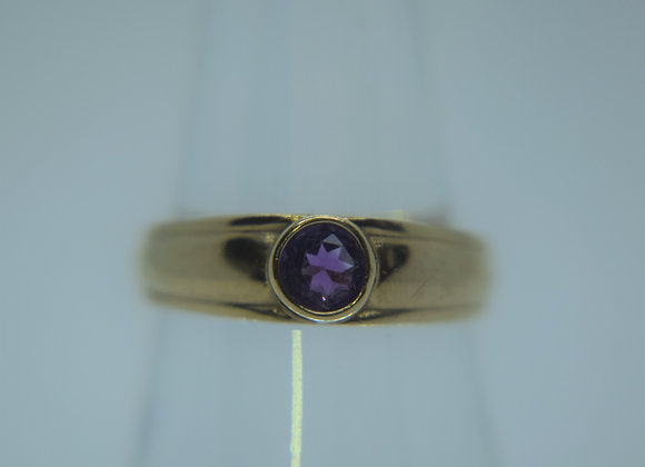 Vintage Gold & Amethyst Ring