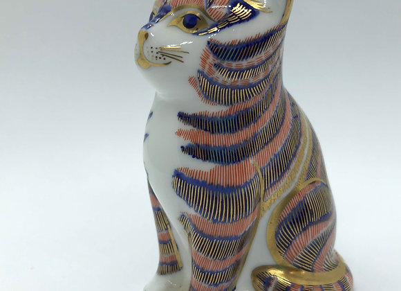 Crown Derby Cat Paperweight