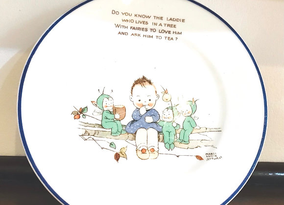 A vintage Shelley Mabel Lucie Attwell Tea Plate