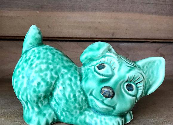 Sylvac Green Dog