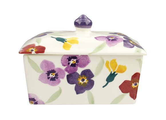 Purple Wallflower Small Butter Dish
