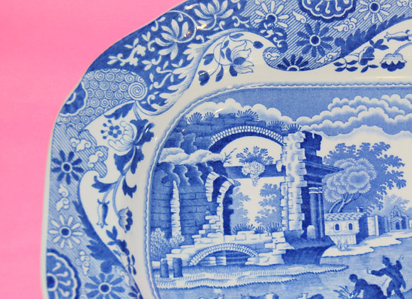 Spode 1920's Large Willow Pattern Oblong Plate