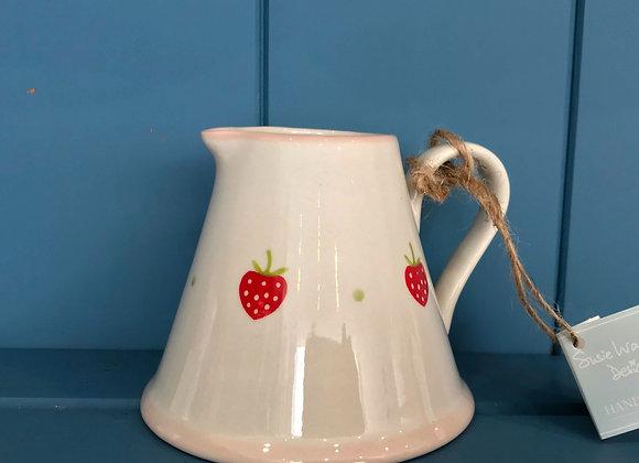 Susie Watson Strawberry Mini Pitcher