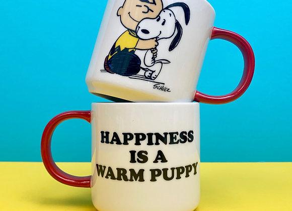 Peanuts Mug: Happiness is a warm puppy!