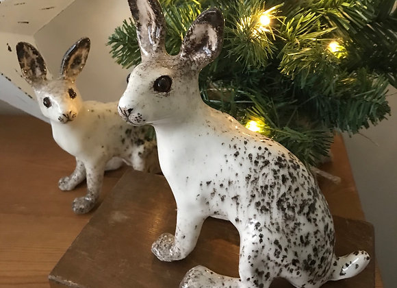 Winstanley Pottery Snow Hare