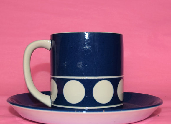 T.G. Green Polo blue cup and saucer