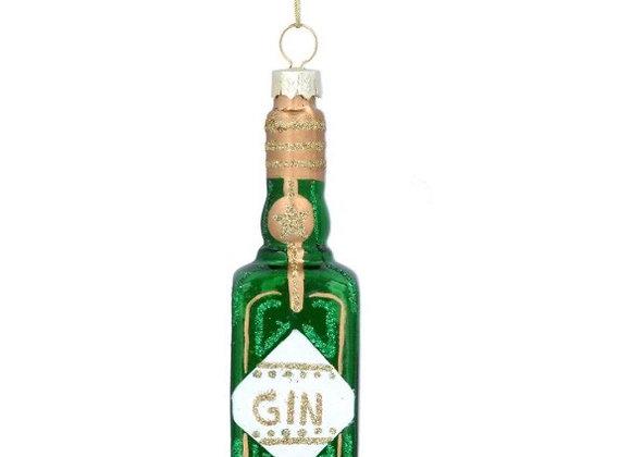 Gisela Graham Glass Tiny Gin bottle Decoration