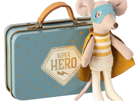 Super Hero Little Brother Mouse in Suitcase