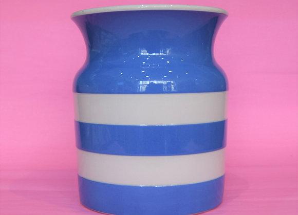Cornish Wate 1930s large storage jar blue and white