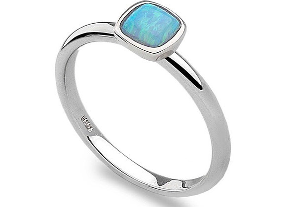 Silver with Blue Opal Stacking Ring