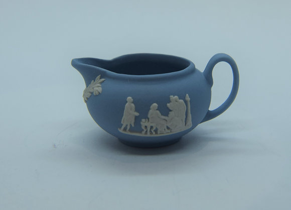 very small blue and white jug