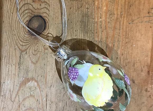Gisela Graham Spring Glass Eggs