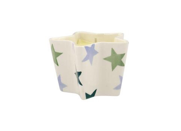 Emma Bridgewater Star Candle Blue & Green