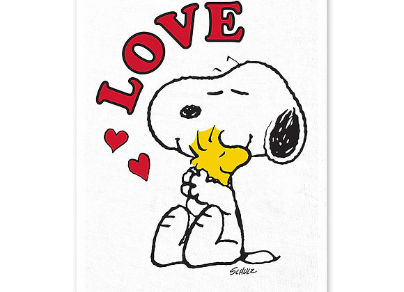 Peanuts tea towel: Love