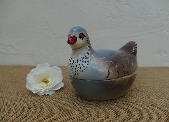 Vintage French Pigeon on Nest