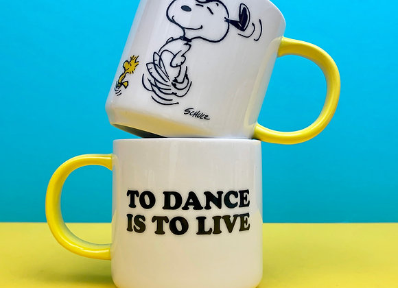Peanuts Mug: To dance is to live