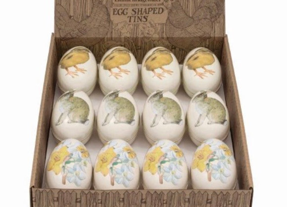 Emma Bridgewater tin eggs with chocolate mini eggs inside