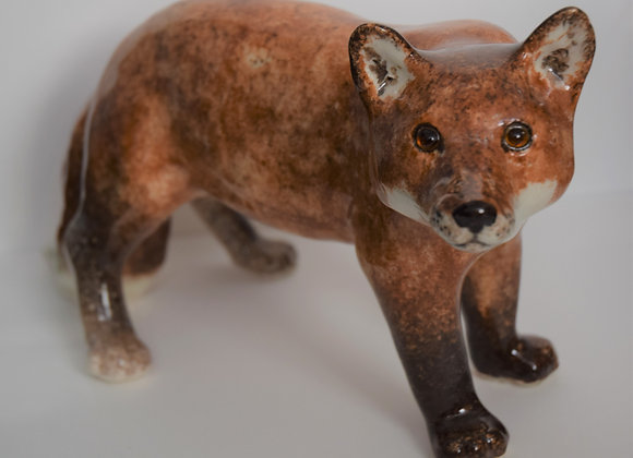 Winstanley Pottery Fox with Glass Eyes