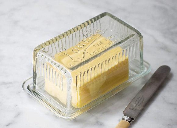 Garden Trading Retro Glass Butter Dish