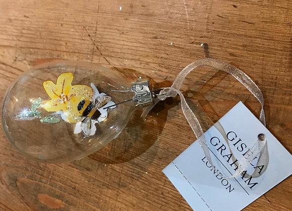 Gissela Graham Glass Egg Bumblebee