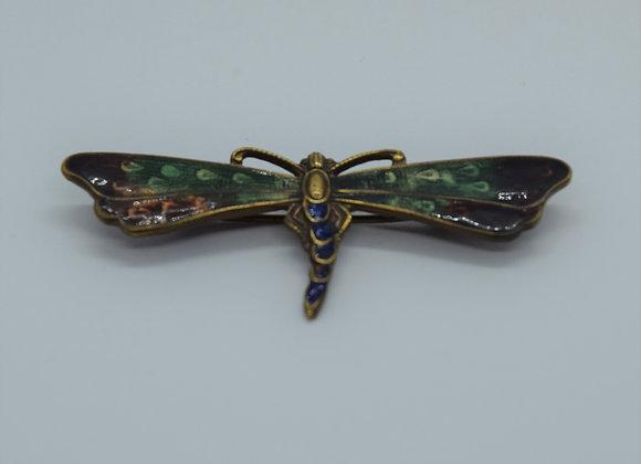 Vintage Enamel Dragonfly Brooch