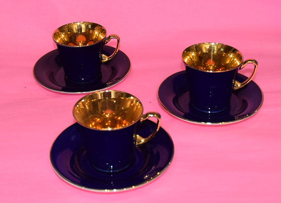 Royal crown Devon set of six coffee cups & saucers