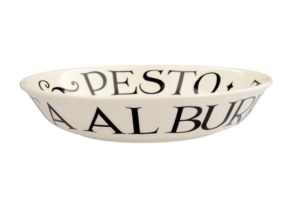 Black Toast Small Pasta Bowl