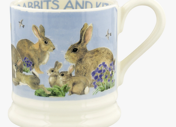 Emma Bridgewater Morning Rabbits & Kits 1/2 Pint Mug