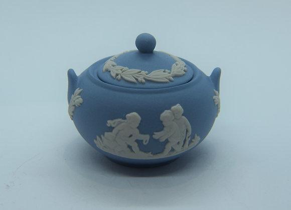 mini blue and white dish