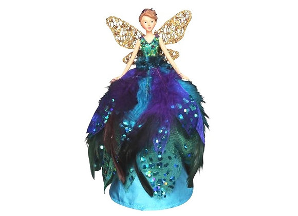 Gisela Graham Peacock Fairy Tree Topper