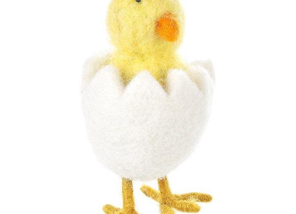 Handmade Felt Hatching Chick Standing Easter Felt Decoration