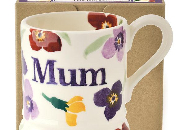 Purple Wallflower Mum 1/2 Pint Mug Boxed